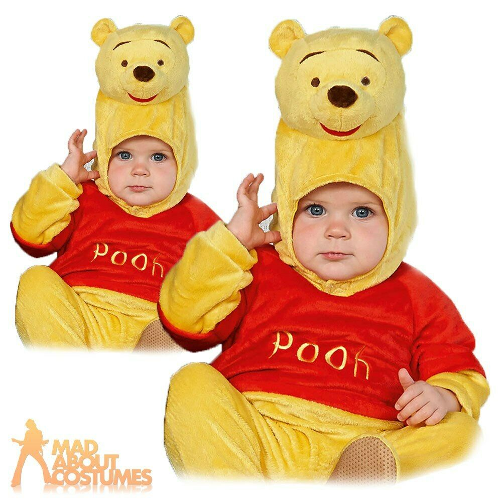 9c2c5fd81fb2 Details about Kids Baby Disney Winnie the Pooh Costume Boys Girls Child  Fancy Dress Outfit