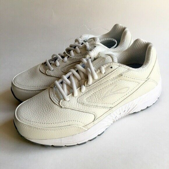 297912a79272b Details about Womens BROOKS DYAD WALKER Ivory Off White Walking Shoes SIZE  9 WIDE