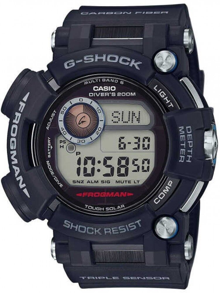 6a41cc0473b CASIO G-SHOCK GWF-D1000-1 WLD Radio Wave Solar Watch FROGMAN Fast Ship  Japan EMS 4549526122248