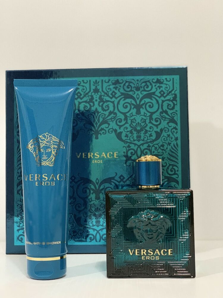 Details about VERSACE EROS BY VERSACE FOR MEN GIFT SET EDT SPRAY 3.4 oz + 5  oz SH G NEW IN BOX 19f272415dce0