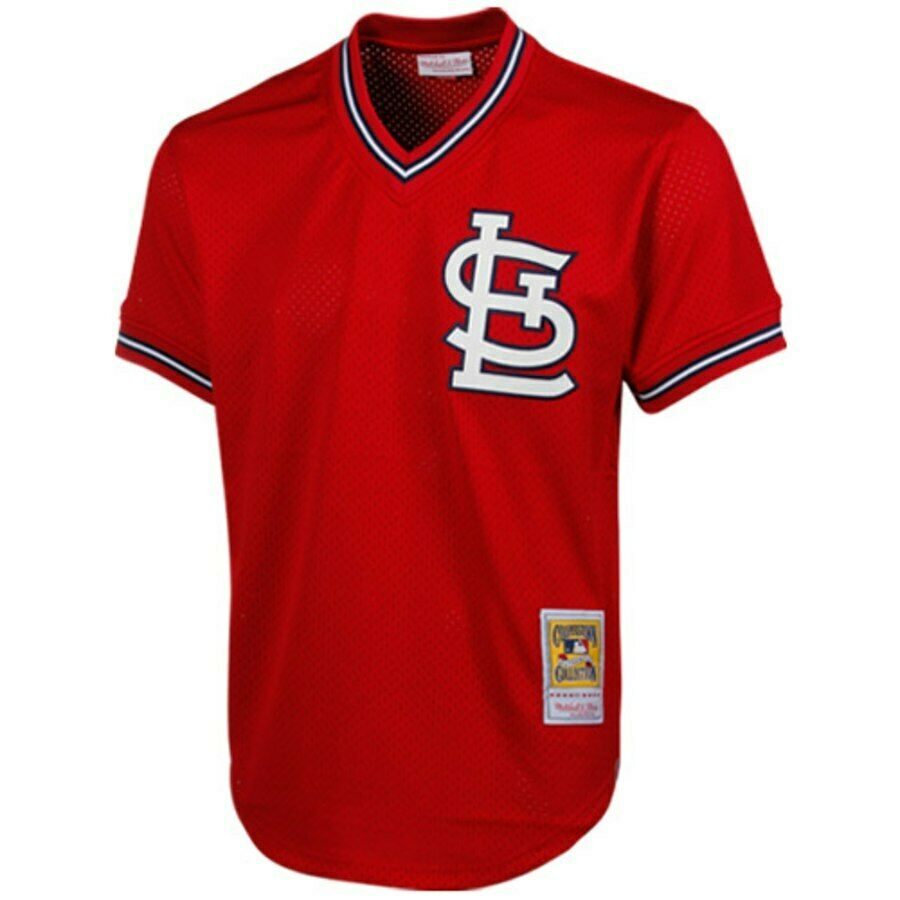78c454f39 Mitchell & Ness Authentic Mesh BP Jersey St. Louis Cardinals 1996 Ozzie  Smith