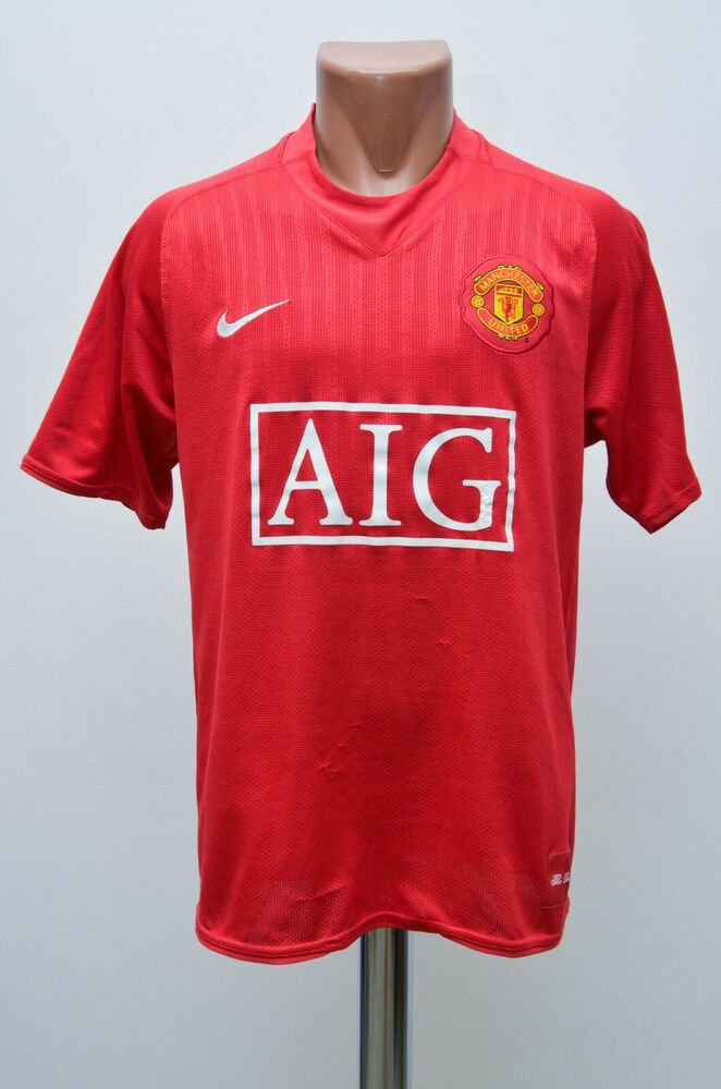 dee25e312 Details about MANCHESTER UNITED 2007 2008 2009 HOME FOOTBALL SHIRT JERSEY  NIKE SIZE M ADULT