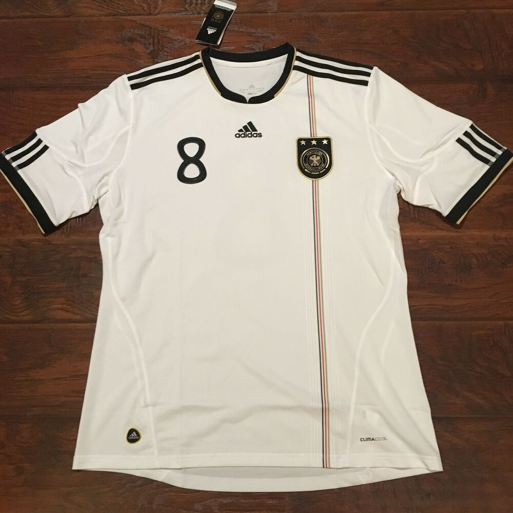7fc98bf81 Details about 2010 Germany Home Jersey  8 Ozil XL World Cup Soccer Adidas  Football NEW