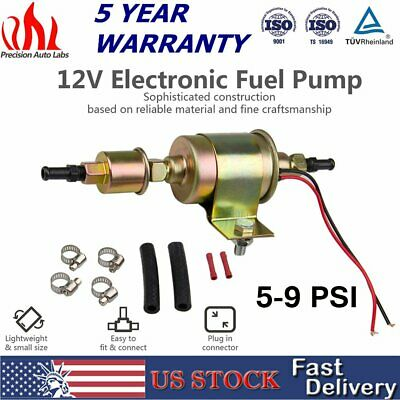 Universal Electric Fuel Pump Gas Diesel Carburetor 12V 5-9 PSI Trucks Car E8012S