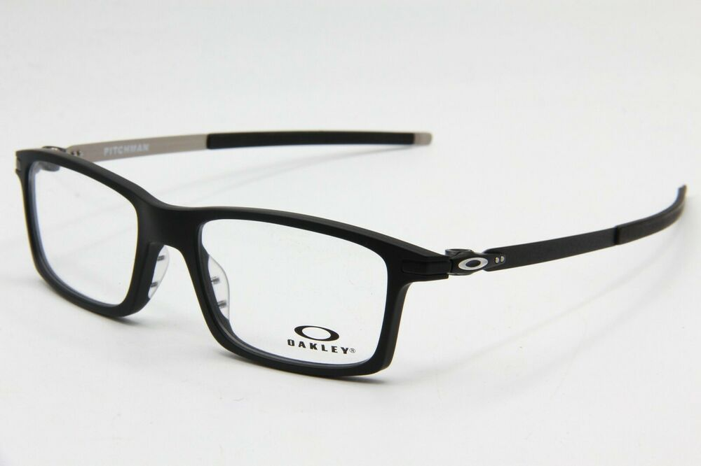 add78e0391138 Details about NEW OAKLEY OX8050-0153 SATIN BLACK PITCHMAN AUTHENTIC  EYEGLASS FRAME RX 53-18