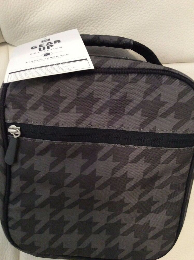 Pottery Barn Teen Gear Up Classic Lunch Bag Houndstooth