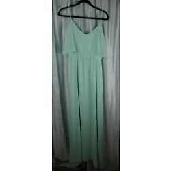NWT Ceremony by Joanna August Gown Formal Prom Light Green Lined Size Large