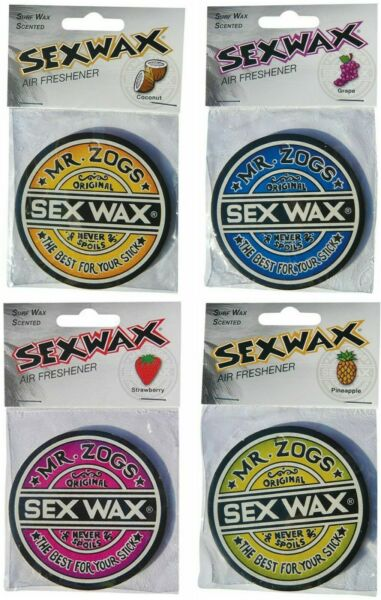Mr Zogs Sex Wax Air Fresheners Strawberry, Coconut, Pineapple, Grape *FAST POST*