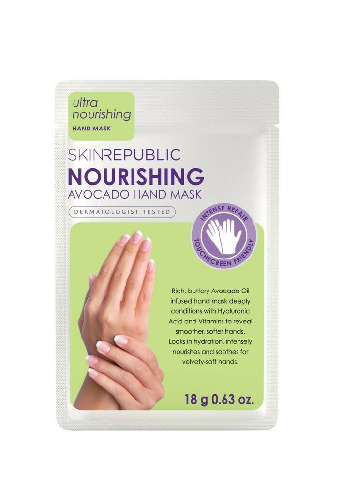 8813439d679 Details about The Skin Republic NOURISHING AVOCADO HAND MASK 1 Pair  Treatment Gloves 18g NEW