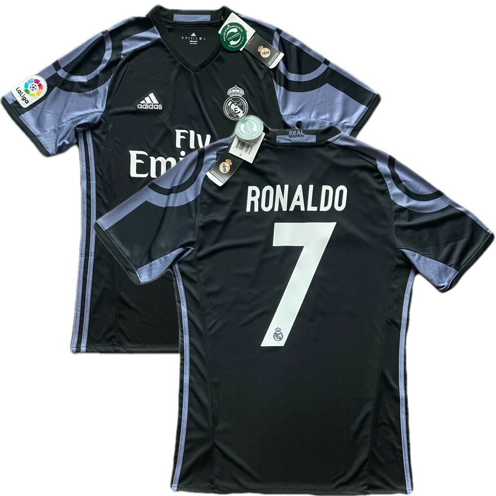 473dff0ff03 Details about 2016/17 Real Madrid Third 3rd Jersey #7 RONALDO Small Soccer  Portugal CR7 NEW