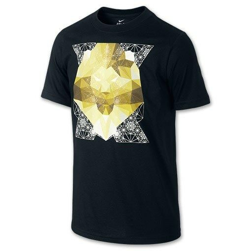 "138b5a19 Details about Nike LeBron James ""Optic Lion"" Dri-Fit T-Shirt Black Men's  Medium 2XL BNWT"