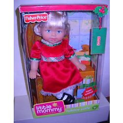 #278 NRFB Fisher Price Little Mommy Holiday Party Doll