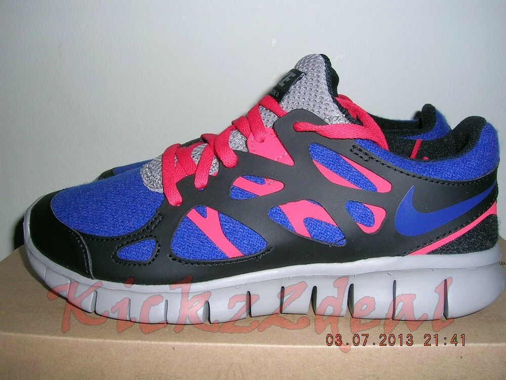 hot sale online 77cf0 b9c4a Details about NEW WMNS NIKE FREE RUN+ 2 EXT Running Shoe 6 - 7 Royal  Blue Red Black 536746-400