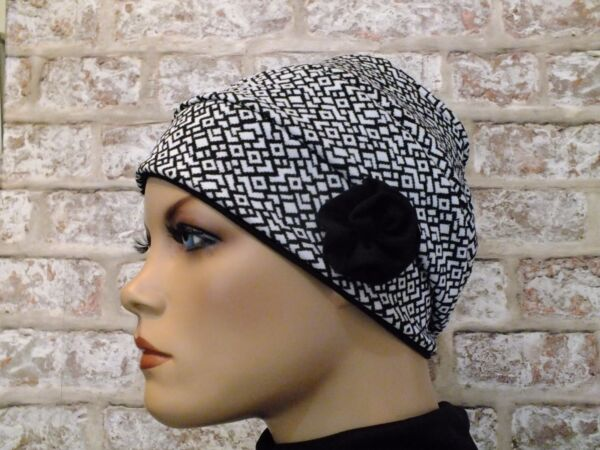 Jersey Hat Headwear for Cancer Leukemia Reverserable 2 in 1 Chemo Hair Loss