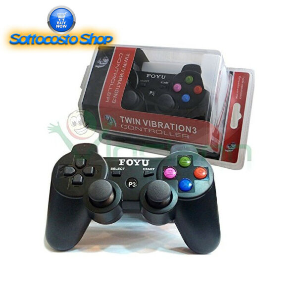 CONTROLLER PLAYSTATION WIRELESS JOYSTICK PAD COMPATIBILE PS3 SENZA FILO