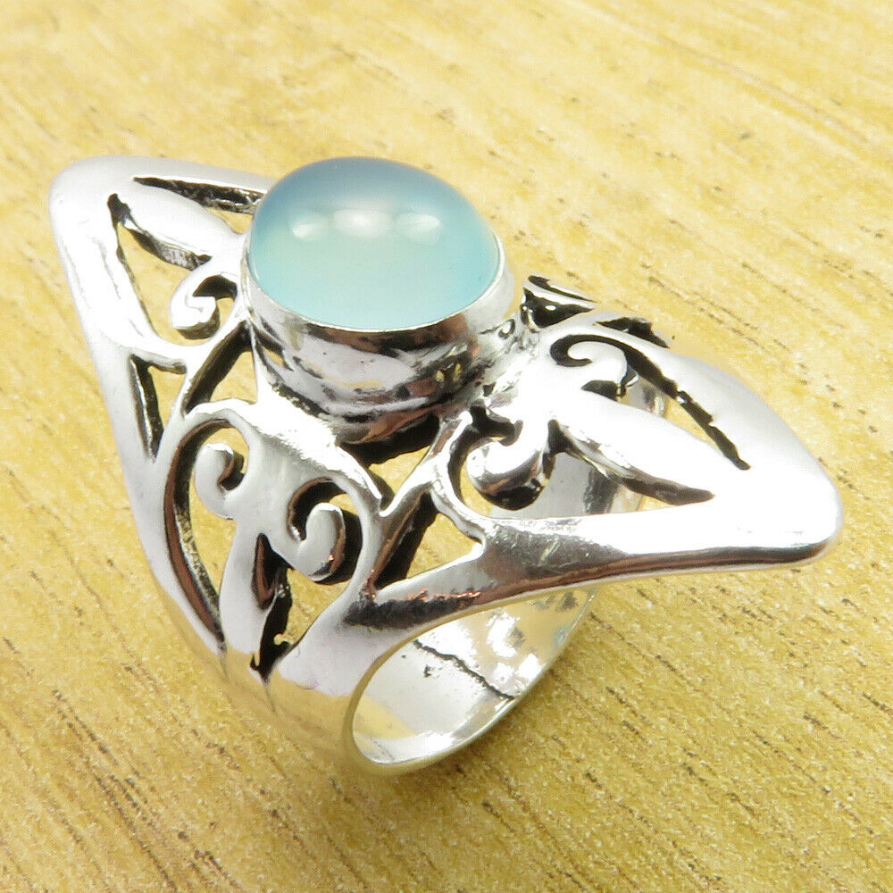 MULTI SIZES 925 Silver Plated GREEN ONYX /& Other Stone ART Jewelry ROYAL Ring