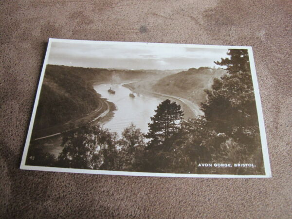 Bristol real photographic postcard - Atmospheric Avon gorge scene - Shipping
