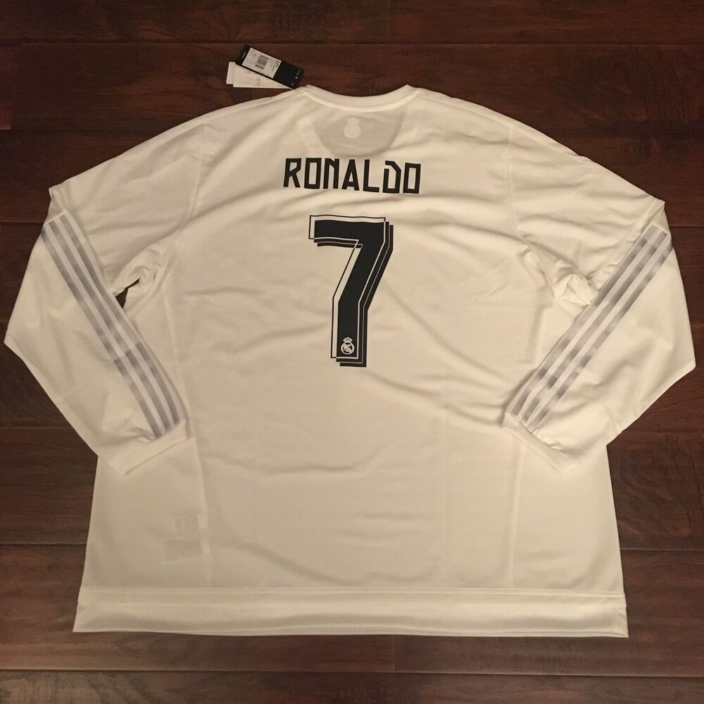 best service 44a41 23c86 2015/16 Real Madrid Home Jersey #7 RONALDO 3XL Long Sleeve Portugal NEW |  eBay