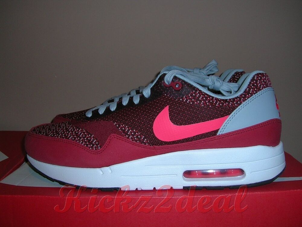 buy online 0e970 672d1 Details about NEW NIKE AIR MAX 1 JCRD Jacquard Trainer 8 ~ 12 Gym Red Laser  Crimson 644153-600
