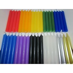 Spell Candles 4'' Set of 4 Available in 12 Colors. Mini Taper Magic Ritual Chime