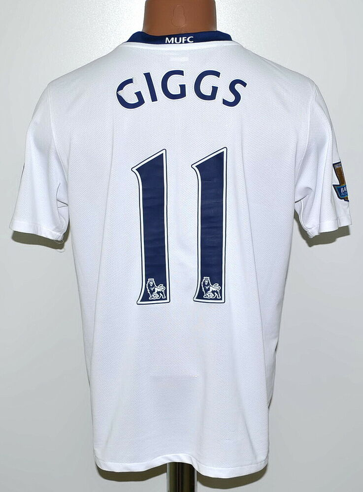 3bc8d9dc6b2 Details about MANCHESTER UNITED 2008 2009 AWAY FOOTBALL SHIRT NIKE GIGGS  11  SIZE YXL BOYS