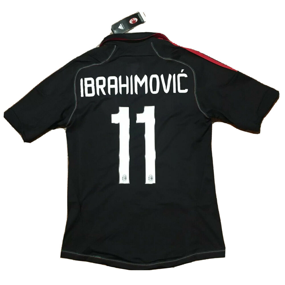 25e9f2611 Details about 2012 13 AC Milan Third Jersey  11 Ibrahimovic Small Adidas  Sweden Soccer NEW