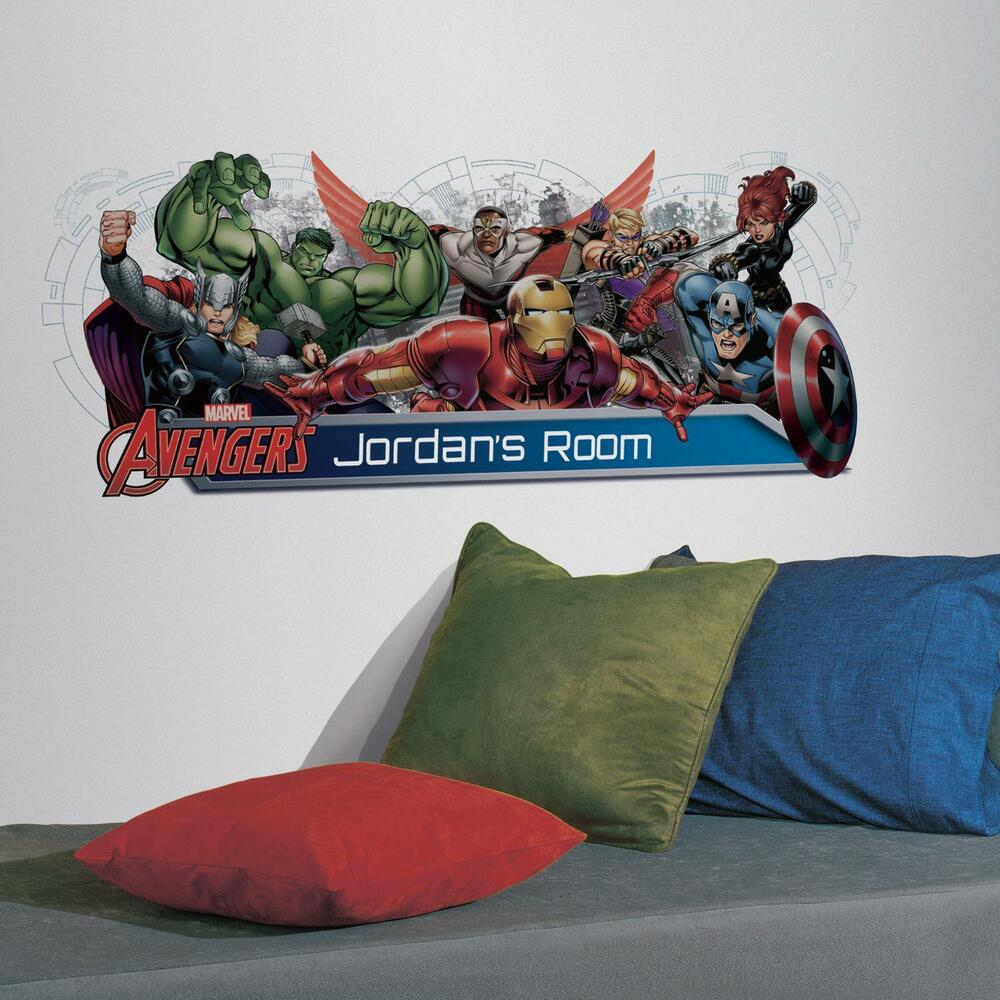 Details about avengers assemble giant personalized wall decals big headboard stickers decor