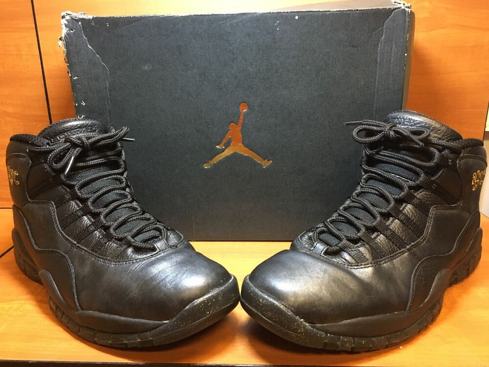 98a78a7b7b6929 Details about Nike Air Jordan 10 X Retro NYC New York City Black Gold 310805 -012 Size 10.5