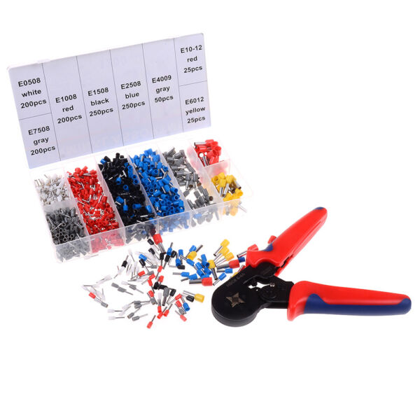 0.25-10mm Crimper plier wire crimping tool with 1200PCS wire crimping terminal F