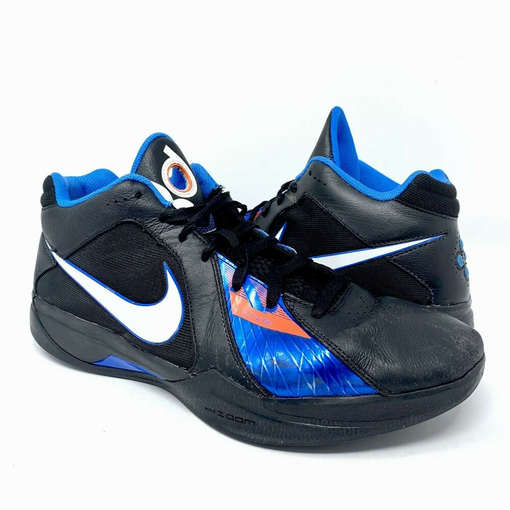 new arrival faccb 5dfb4 Details about NIKE ZOOM KD 3 III Away OKC Thunder Basketball Shoes  417279-001 Black Blue Sz 13
