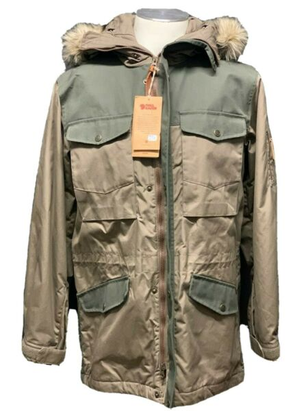 FJALL RAVEN Sarek men's Winter jacket parka coat Green Size XS (pv:529€)