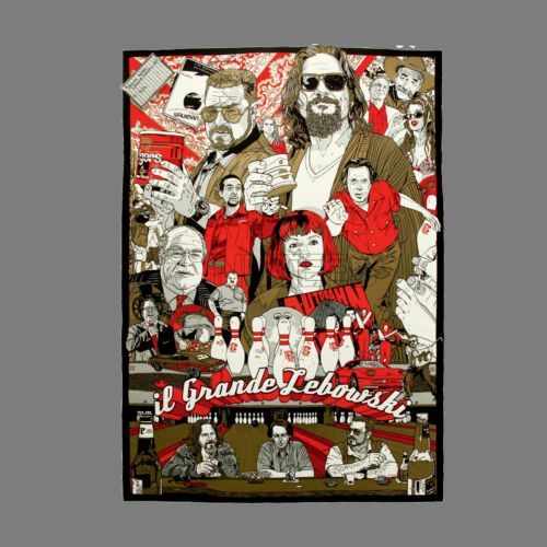 The Big Lebowski IL GRANDE LEBOWSKI The Dude Mens Ladies T-Shirts Vests S-XXL