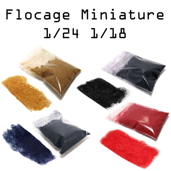 Flocage Moquette Tapis Miniature Pour modèles 1/18 1/24 Aoshima Tamiya Revell