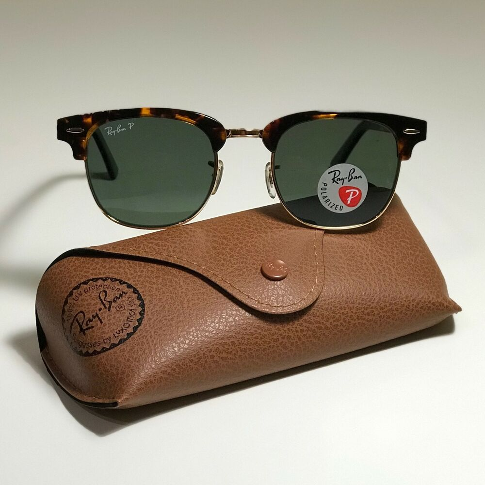 24b54ef05 Details about New Ray-Ban Clubmaster Classic LARGE Tortoise RB3016 990/58 51 -21 POLARIZED G-15
