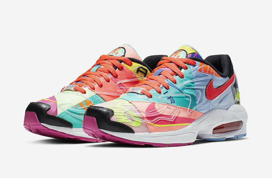 low priced 946c5 bd330 Details about atmos x NIKE AIR MAX2 LIGHT QS BV7406-001  LOGOS  sz 5.5-13