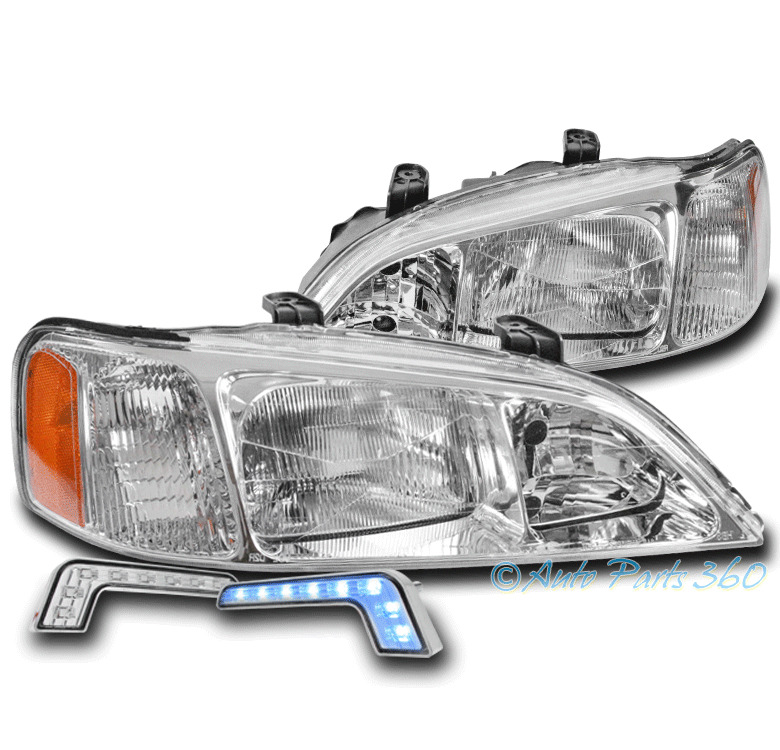 FOR 99-01 ACURA TL REPLACEMENT CHROME HEADLIGHTS HEADLAMPS