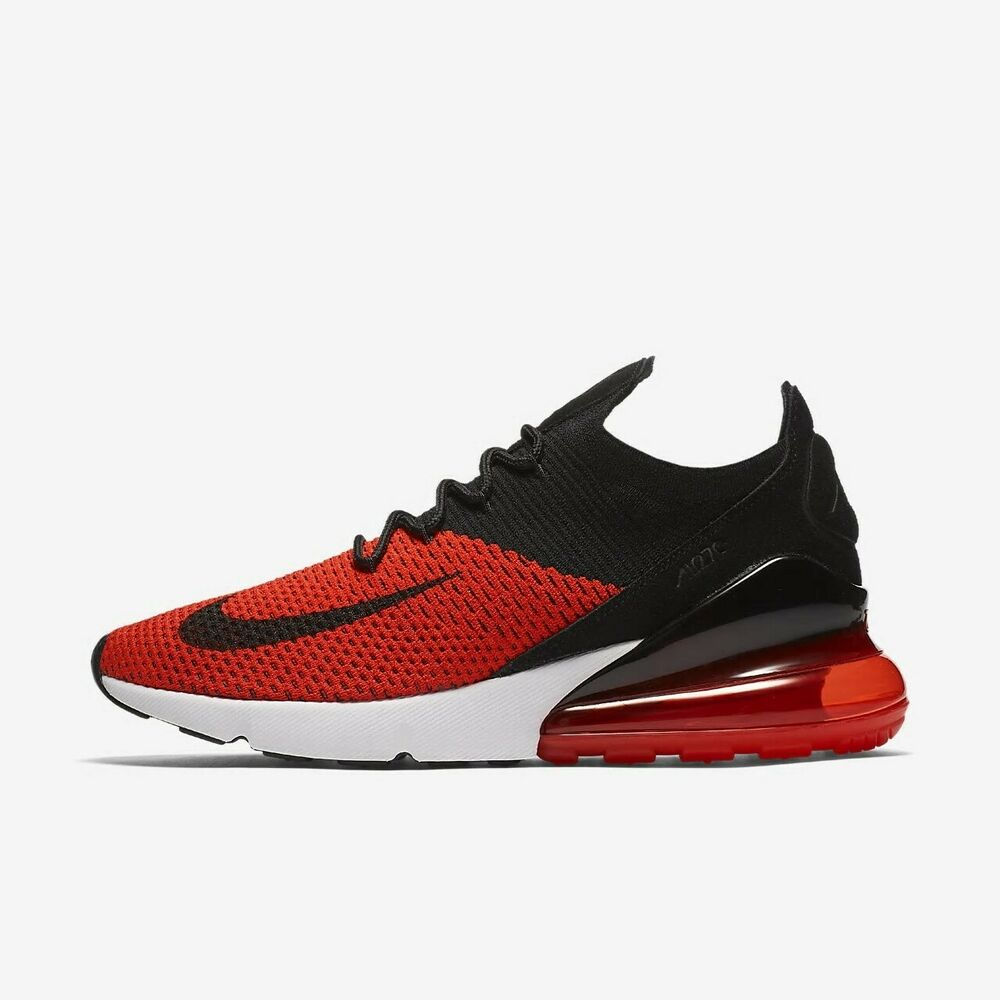 5eb9036834 Details about Nike Air Max 270 Flyknit AO1023-601 Chile Red Black White  Men's Running Shoes