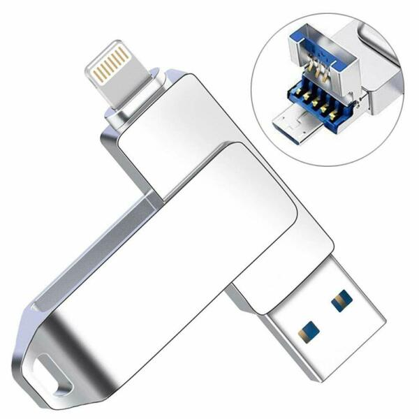 512/256/128GB OTG USB flash Drive Metal Pendrive For iPhone 6S/7/8/X/XS iPAD PC