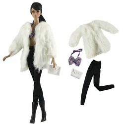 Kyпить Doll Accessories Set Fashion Clothes Fur Coat Pants For 11.5