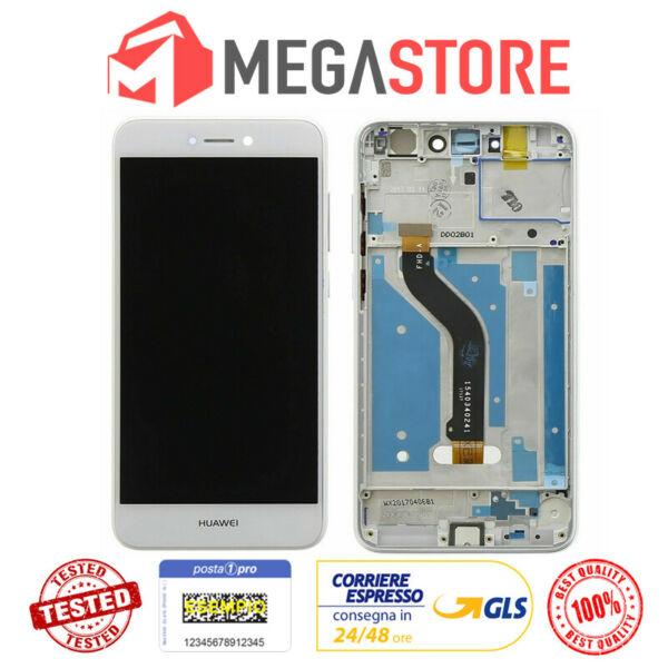 LCD DISPLAY HUAWEI P8 Lite 2017 FRAME TOUCH SCREEN PRA-LA1 PRA-LX1 PRA-LX3 BIANC