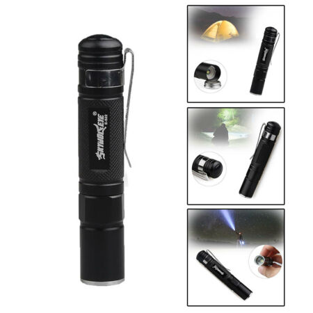 img-Portable étanche LED Pliable Lampe Poche Torche Flashlight Camping Tactique Neuf
