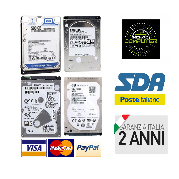 HARD DISK HDD 500 GB 2,5