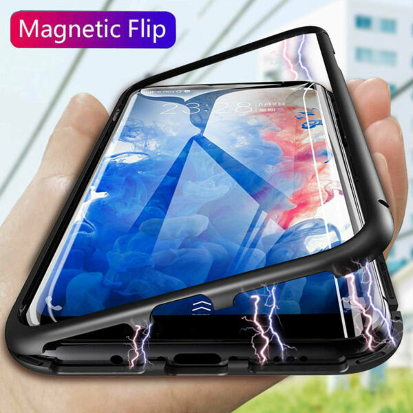 Case For Samsung Galaxy S10e S9 S8 Plus Luxury Magntic Adsorption Flip Cover