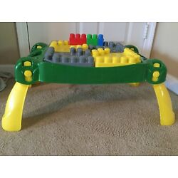 Kyпить RARE MEGA BLOKS FIRST BUILDERS JOHN DEERE Play Table 80854 Build N Learn на еВаy.соm