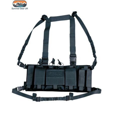 img-BLACK TACTICAL TROJAN CHEST RIG UTILITY VEST AIRSOFT ARMY CAMO
