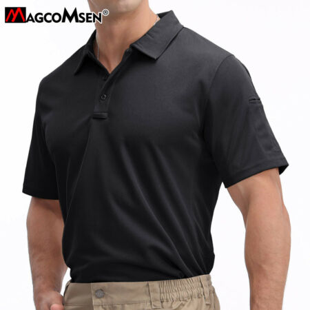 img-Men's Tactical Polo Shirt Black Security Police T-shirt Sportswear Training Tops