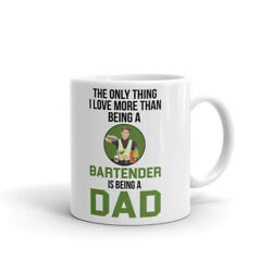 Bartender The Only Thing Love More Than A Dad Cup Gift Coffee Tea Ceramic Mug