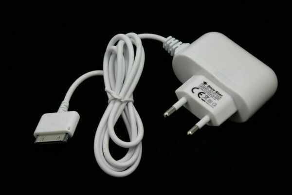 Caricabatterie Travel Charger iPhone 4 G 4S 3GS 3G 2G iPad 1 2 3 Colore Bianco