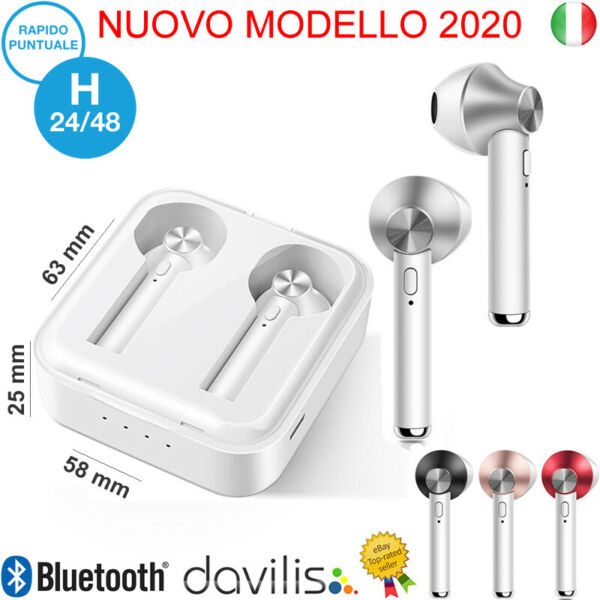 AURICOLARI BLUETOOTH 5.0 SENZA FILI WIRELESS SPORT IPHONE SAMSUNG HUAWEI XIAOMI