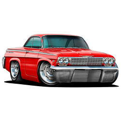 NEW 1962 Chevy Impala 409 Z11 Wall Decal Sticker Graphic Garage Man Cave Decor